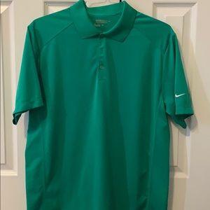 Green golf polo shirt